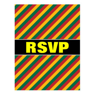 Flag of Lithuania Inspired Colored Stripes Pattern Postcard