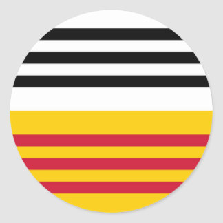 Flag of Loon op Zand Classic Round Sticker
