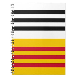 Flag of Loon op Zand Spiral Notebook