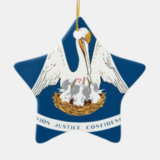 Flag Of Louisiana Ceramic Ornament