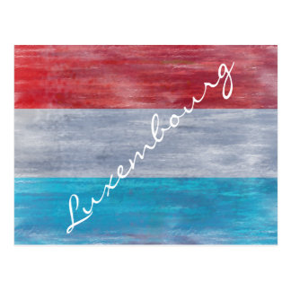 Flag of Luxembourg - Personalise Postcard