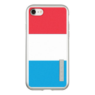 Flag of Luxembourg Silver iPhone Case