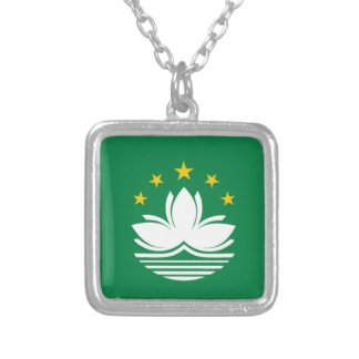 Flag of Macau Silver Plated Necklace