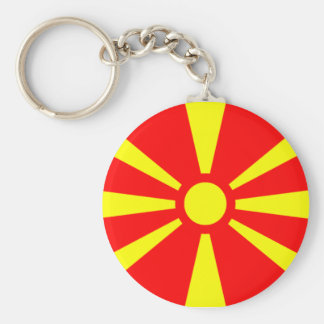 Flag of Macedonia Key Ring