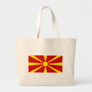 Flag_of_Macedonia Large Tote Bag