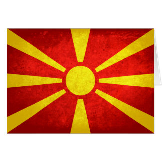 Flag of Macedonia Note Card