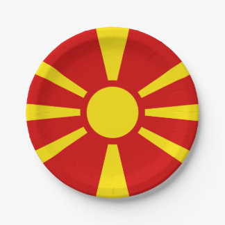 Flag of Macedonia Paper Plates