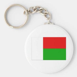 Flag of Madagascar Basic Round Button Key Ring
