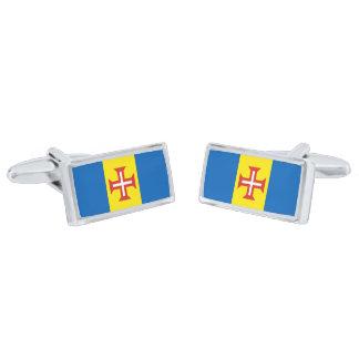 Flag of Madeira Cufflinks Silver Finish Cuff Links