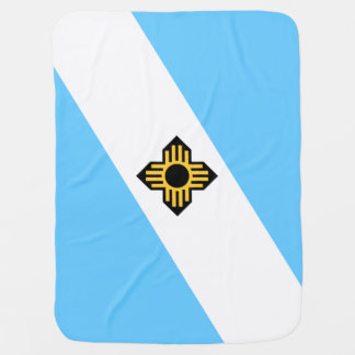 Flag of Madison, Wisconsin Baby Blanket