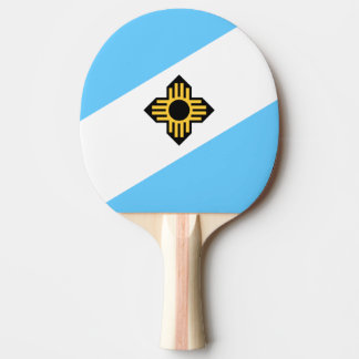 Flag of Madison, Wisconsin Ping Pong Paddle