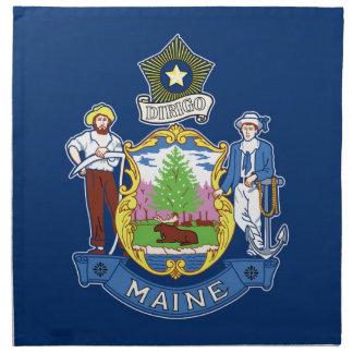 Flag Of Maine Napkin