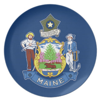 Flag Of Maine Plate