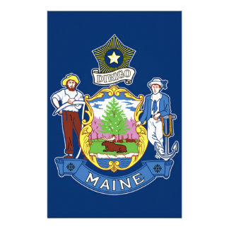 Flag Of Maine Stationery