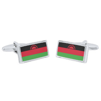 Flag of Malawi Cufflinks Silver Finish Cufflinks