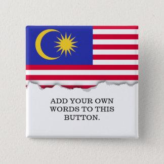 Flag of Malaysia 15 Cm Square Badge
