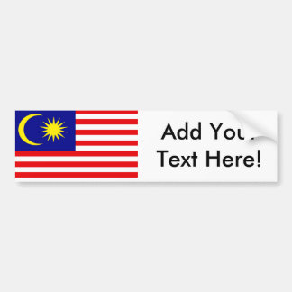 Flag of Malaysia Bumper Stickers
