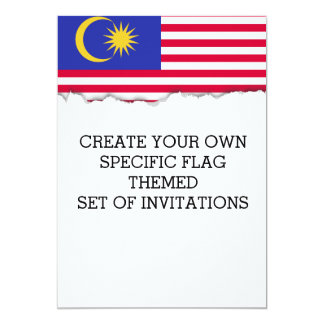 Flag of Malaysia Card