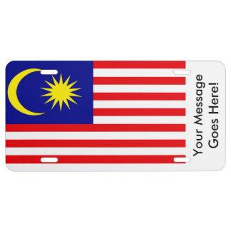 Flag of Malaysia License Plate