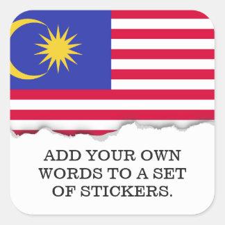 Flag of Malaysia Square Sticker