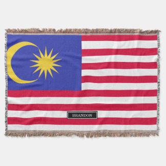 Flag of Malaysia Throw Blanket