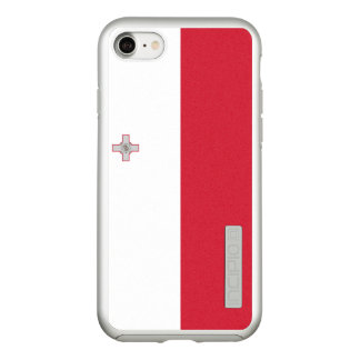 Flag of Malta Silver iPhone Case