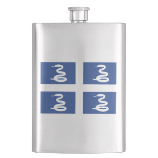 Flag of Martinique Hip Flask