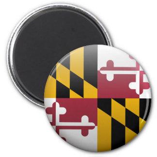 Flag of Maryland 6 Cm Round Magnet