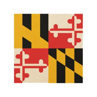 Flag of Maryland Wood Print
