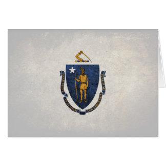 Flag of Massachusetts Note Card