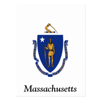 Flag of Massachusetts Postcard