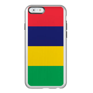 Flag of Mauritius Silver iPhone Case
