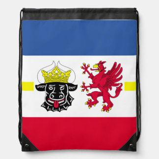 Flag of Mecklenburg-Western Pomerania Drawstring Bag