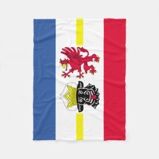 Flag of Mecklenburg-Western Pomerania Fleece Blanket
