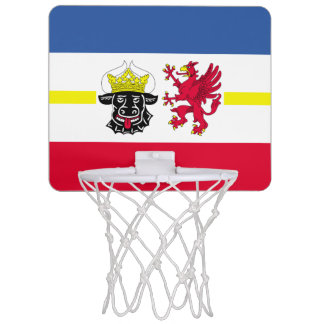 Flag of Mecklenburg-Western Pomerania Mini Basketball Hoop