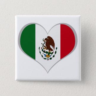 Flag of Mexico 15 Cm Square Badge