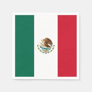 Flag of Mexico Disposable Serviettes