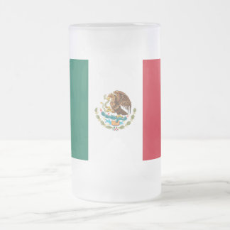 Flag of Mexico Frosted Glass Mug