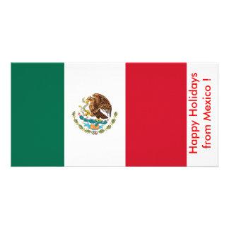 Flag of Mexico, Happy Holidays from Mexico Photo Card