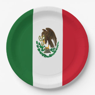 Flag of Mexico Paper Plate