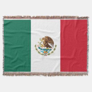 Flag of Mexico Premium Woven Throw Blanket