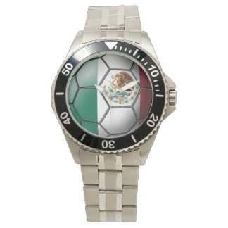 Flag of Mexico Soccer Ball Watch