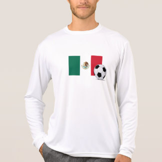 Flag of Mexico with Soccer Ball Tees