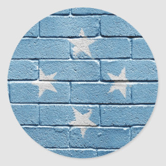 Flag of Micronesia Classic Round Sticker