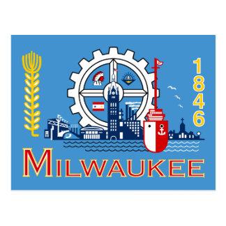 Flag of Milwaukee, Wisconsin Postcard