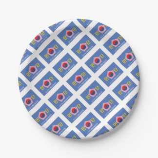 Flag of Mindan 7 Inch Paper Plate