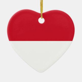 Flag_of_Monaco Ceramic Heart Decoration