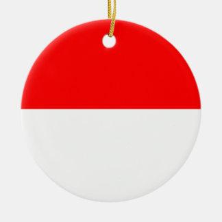 Flag of Monaco Round Ceramic Decoration