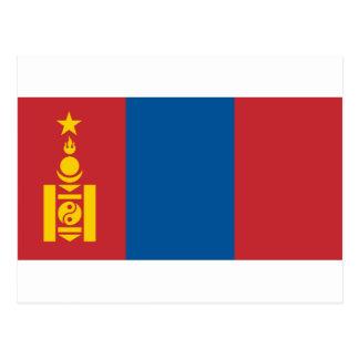 Flag of Mongolia -  Монгол улсын төрийн далбаа Postcard