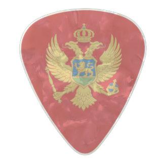 Flag of Montenegro Guitar Picks Pearl Celluloid Guitar Pick